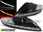 Передние фары Ford Mondeo 4 daylight black led indicator