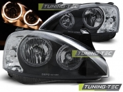 Передние фары Opel Corsa C angel eyes black