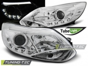Передние фары Ford Focus 3 tube lights chrome