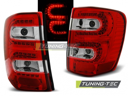 Задние фонари Jeep Grand Cherokee WJ red white led