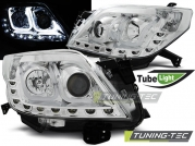 Передние фары tube light chrome для Toyota Land Cruiser Prado 150