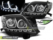 Передние фары tube light black для Toyota Land Cruiser Prado 150
