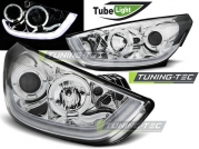 Передние фары Hyundai IX35 chrome tube light