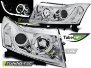 Передние фары tube light chrome для Chevrolet Cruze