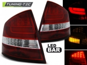 Задние фонари Skoda Octavia 2 red white led bar