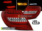 Задние фонари Mercedes C W204 red white led bar