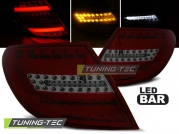 Задние фонари Mercedes C W204 red smoke led bar
