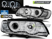 Передние фары ccfl angel eyes chrome XENON для BMW X5 E53