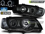 Передние фары ccfl angel eyes black XENON для BMW X5 E53