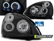 Передние фары Renault Clio 2 angel eyes ccfl black