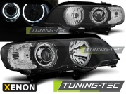 Передние фары led angel eyes black XENON для BMW X5 E53