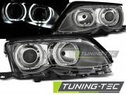 Передние фары Bmw 3 E46 angel eyes led chrome