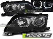 Передние фары Bmw 3 E46 angel eyes led black