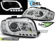 Передние фары Audi A3 8P led tube lights chrome tru drl