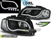 Передние фары Audi A3 8P led tube lights black tru drl
