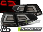 Задние фонари black led bar для VW Golf MK7