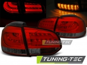 Задние фонари VW Golf 6 red smoke led bar