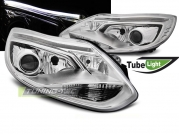 Передние фары Ford Fokus 3 tube lights chrome