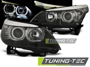 Передние фары Bmw 5 E60/E61 led angel eyes H7 black