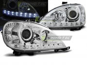 Передние фары Mercedes ML W163 daylight chrome