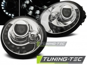 Передние фары VW New Beetle led tru drl chrome