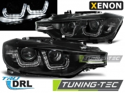 Передние фары BMW 3 F30 / F31 black u-led bar hid