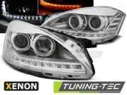Передние фары Mercedes S W221 daylight hid chrome