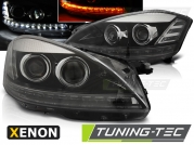 Передние фары Mercedes S W221 daylight hid black