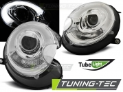 Передние фары Mini Cooper tube light chrome