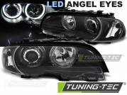 Передние фары ANGEL EYES LED BLACK для BMW 3 E46 coupe