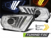 Передние фары tube light chrome для Ford Mustang V