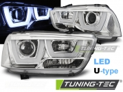 Передние фары tube light chrome для Dodge Charger LX II