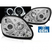 Передние фары angel eyes CCFL chrome для Mercedes SLK R170