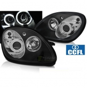 Передние фары angel eyes CCFL black для Mercedes SLK R170