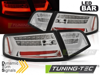 Задние фонари chrome led bar seg для Audi A6 C6 sedan