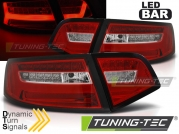 Задние фонари red white led bar seg для Audi A6 C6 sedan