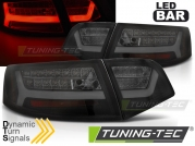 Задние фонари black smoke led bar seg для Audi A6 C6 sedan