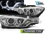 Фары передние ANGEL EYES LED CHROME DRL для BMW 3 F30 F31