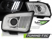 Передние фары chrome tube light для Ford Mustang V