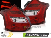 Задние фонари для Ford Focus III Hatchback (11-14) LED Red Crystal