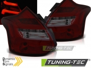 Задние фонари для Ford Focus III Hatchback (11-14) LED Red Smoke