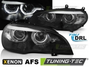Передние фары AE DRL LED BLACK AFS HID для BMW X5 E70