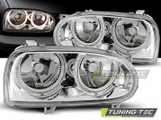 Передние фары angel eyes chrome для Volkswagen Golf 3