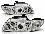 Передние фары angel eyes chrome для Chrysler Voyager / Dodge Caravan