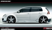 Накладки на пороги S-POWER VW Golf 5