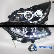 Передние фары Opel Insignia angel eyes led