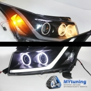 Передние фары Chevrolet Cruze angel eyes TJ type