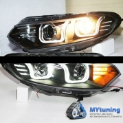 Передние фары Ford EcoSport angel eyes U style