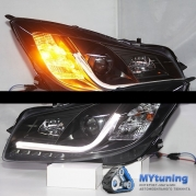 Передние фары Opel Insignia black tube lights