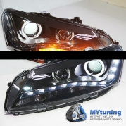 Передние фары VW Passat B7 USA angel eyes LD type